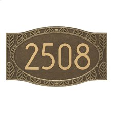 Frond Neohaus 1 Line Personalized Wall Plaque - Antique Brass