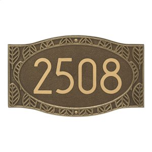 Frond Neohaus 1 Line Personalized Wall Plaque - Antique Brass Product Image