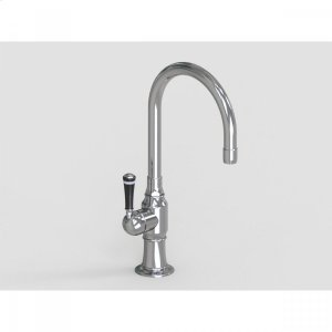 """Brushed Stainless - 7"""" Deck Mount Single Hole Swivel Bar Faucet Spout with Left Product Image"""