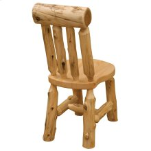 Lumberjack Bistro Side Chair - Natural Cedar - Wood Seat