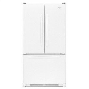 25 cu. ft. French Door Refrigerator(White) (This is a Stock Photo, actual unit (s) appearance may contain cosmetic blemishes. Please call store if you would like actual pictures). This unit carries our 6 month warranty, MANUFACTURER WARRANTY and REBATE NOT VALID with this item. ISI 34093