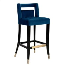 Hart Navy Velvet Bar Stool