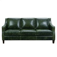 Miles Leather Sofa in Fescue Green Product Image