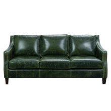 Miles Leather Sofa in Fescue Green