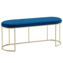 Perla Bench in Blue & Gold