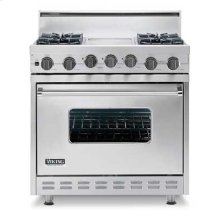 "Stone Gray 36"" Sealed Burner Self-Cleaning Gas Range - VGSC (36"" wide range with six burners)"