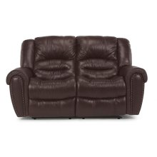 Crosstown Leather Power Reclining Loveseat