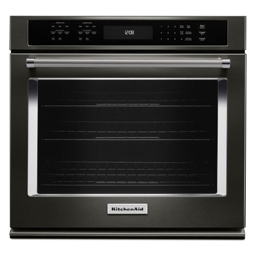"30"" Single Wall Oven with Even-Heat™ True Convection - Black Stainless"