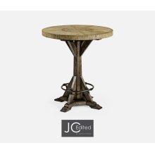 "36"" Light & Dark Driftwood Bar Table"