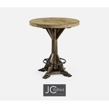 "36"" Light & Dark Driftwood Bar Table"