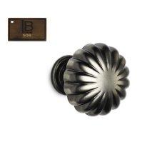 Model 138, Round Cabinet Knob, Brushed Antique Brass - California