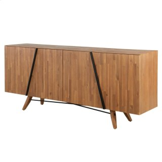Dartford KD Sideboard 4 Doors, Acorn Brown