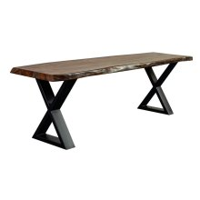 Manzanita Harvest Sheesham Bench with Different Bases, VCS-BN60G