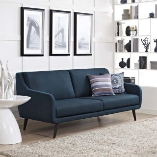 Verve Upholstered Fabric Sofa in Azure