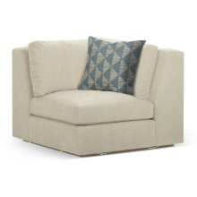 "41 1/2"" Hamilton Golden Ale Oak Corner Sofa Sectional, Upholstered in Synergy"