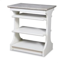 Kennedy Chairside Table - Wh/rw