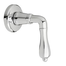 Ashbee 1/2 Inch or 3/4 Inch Wall Valve Trim with Lever Handle - Polished Chrome