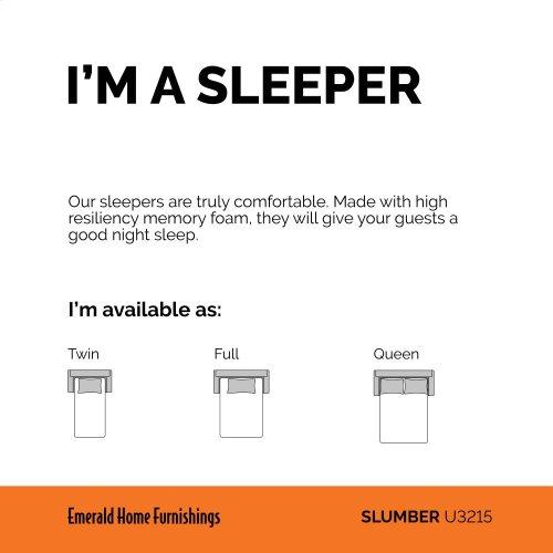 Emerald Home Slumber Queen Sleeper W/gel Foam Mattress Charcoal U3215-50-13