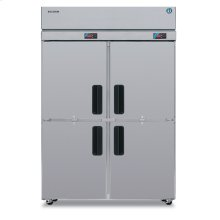 Dual Temp Cabinet, Two Section Upright, Half Stainless Door