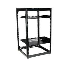 """35"""" Tall AV Rack 20U Stackable Skeleton Rack"""