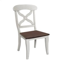 DLU-ADW-C12WD-AW-2  Andrews Dining Chair  Antique White with Chestnut Wood Seat