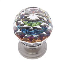 Satin Nickel 30 mm Round Prism Knob