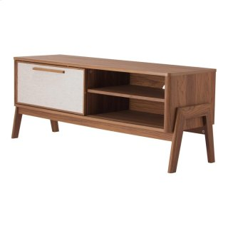 """Heaton 48"""" KD Low TV Stand, Walnut (ASSEMBLY REQUIRED)"""