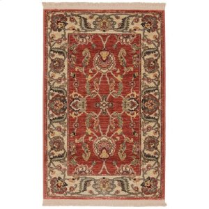 Agra Red Rectangle 2ft 6in X 4ft