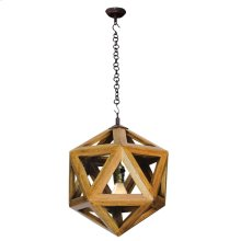 Wood Decahederon Sm. Pendant