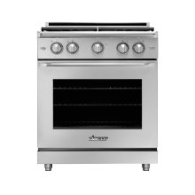 "30"" Heritage Gas Epicure Range, Silver Stainless Steel, Natural Gas"