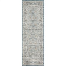 "Ella Rose Light Blue Rug - 2'-8"" X 7'-6"" Runner"