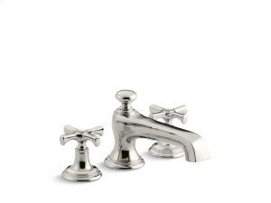 Deck-Mount Bath Faucet, Cross Handles - Nickel Silver Product Image
