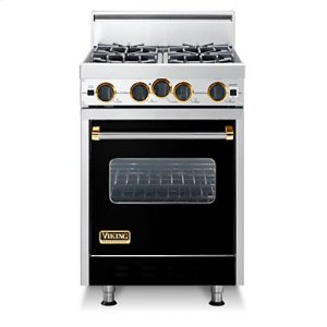 "24"" Classic Open Burner Range, Natural Gas, Brass Accent"