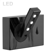 Wall Sconce W/ Reading Lamp, Black Finish