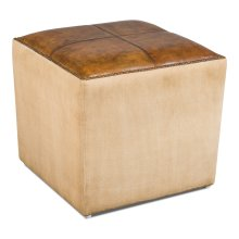 Leather Pouf