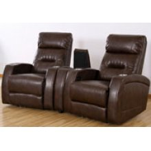 REC-567 & CON- 567 Canto Coffee Leather Recliner