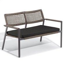 Eiland Loveseat - Carbon, Mocha Composite Cord Seat/Back