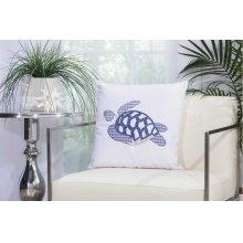"""Outdoor Pillow L1299 White 18"""" X 18"""" Throw Pillow"""