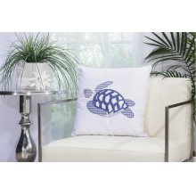 "Outdoor Pillow L1299 White 18"" X 18"" Throw Pillow"