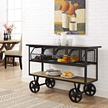 Fairground Serving Stand in Brown