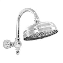 """8"""" Rainhead with Arched Shower Arm and Flange"""