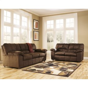 Signature Design by Ashley Dominator Living Room Set in Cafe Fabric