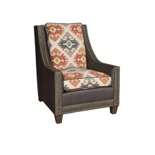 Elsa Leather Fabric Chair, Elsa Ottoman