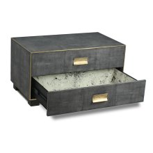 Midnight Shagreen Low Chest