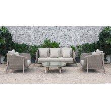 Renava Carillo Outdoor Beige Wicker Sofa Set