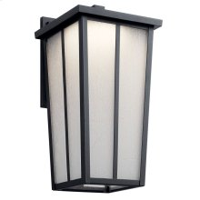 """Amber Valley 17.25"""" LED Wall Light Textured Black"""