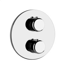 """TRIM PARTS ONLY External parts for 3-way diverter thermostatic and volume control Single backplate 1/2"""" connections Vertical/Horizontal application Anti-scalding Requires in-wall rough valve 09279"""