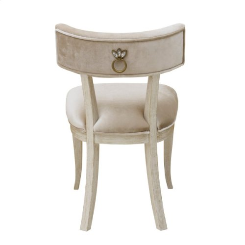 Reece Upholstered Desk Chair in Champagne Beige