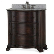 Davis Vanity with sink and marble top