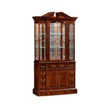 Neo-Classical Mahogany China Cabinet